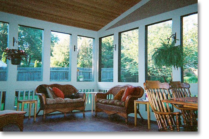We, with customer input, have designed and built many enclosed porches ...